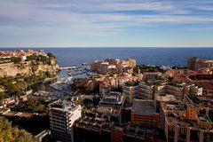 Port de Fontveille panorama. Monte Carlo. Royalty Free Stock Images
