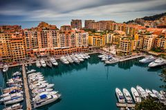 Port de Fontvieille au Monaco Photographie stock