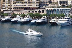 Port de Fontvieille, marina, water transportation, boat, waterway. Port de Fontvieille is marina, waterway and yacht. That marvel has water transportation, dock stock photography