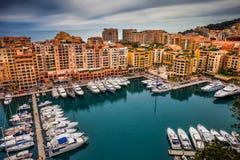 Port de Fontvieille in Monaco Stockfotografie