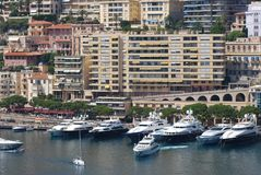 Port de Fontvieille, Monte-Carlo, marina, water transportation, harbor, waterway. Port de Fontvieille, Monte-Carlo is marina, waterway and boat. That marvel has stock photo
