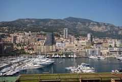 Port de Fontvieille, Monte-Carlo, null, aerial photography, town, city, cityscape. Port de Fontvieille in Monte-Carlo, you can see the city, with it`s wonderfull stock images