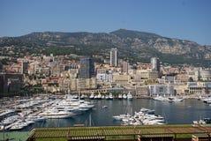 Port de Fontvieille, Monte Carlo, nulle, photographie aérienne, ville, ville, paysage urbain Images stock