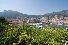 Port de Fontvieille, town, geographical feature, human settlement, river. Port de Fontvieille is town, river and tourism. That marvel has geographical feature Royalty Free Stock Photos