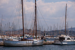 Port de Frioul, Marseille Photo stock