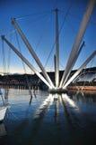Port de Gênes - l'Italie Photo stock