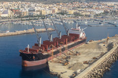 Port de Garrucha de La, Murcie Côte espagnole Images stock
