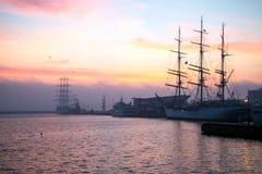 Port de Gdynia Images libres de droits