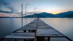 Port de Gocek au coucher du soleil Photo libre de droits