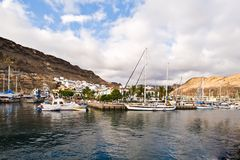 port de gran de canaria mogan photo stock