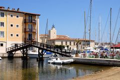port de grimaud de la France Photo stock