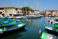 Port de Grimaud en France Image libre de droits