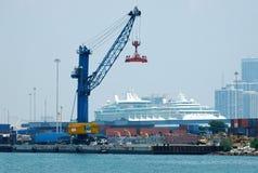 port de grue Photos stock