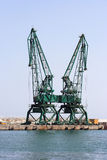 port de grues Images stock
