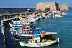 Port de Héraklion, Crète Image libre de droits