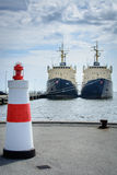 Port de Hals, Danemark (mode hauteur) Photographie stock
