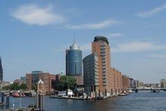 Port de Hambourg Images libres de droits