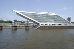 Port de Hambourg de quartier des docks, Allemagne Photos stock