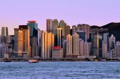 Port de Hong Kong Victoria images stock