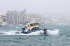Port de Karakoy dans la neige Photographie stock
