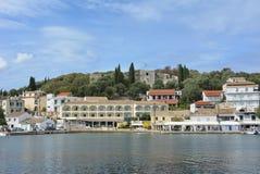 Port de Kassiopi, Corfou image libre de droits