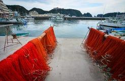 Port de Katsuura et village de pêche au Japon Photo stock