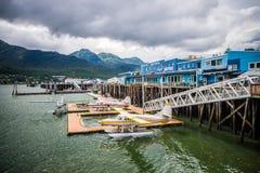 Port de Ketchikan Alaska et aéroport plat de flotteur Photographie stock libre de droits