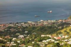 Port de Kingstown un dimanche Photos stock