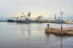 Port de Kronstad Image libre de droits