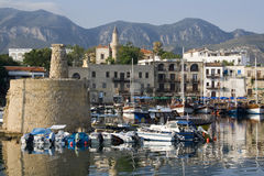 Port de Kyrenia - Chypre turque Photo libre de droits