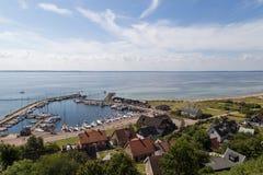 Port de Kyrkbacken sur l'île TSV Photographie stock libre de droits
