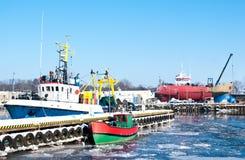 Port de l'hiver photographie stock libre de droits