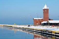 Port de l'hiver image libre de droits