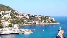 Port de la Côte d'Azur agréable et banque de vidéos
