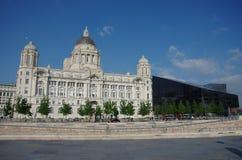 Port de la construction de Liverpool Image libre de droits