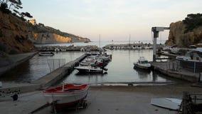 Port de la Madrague,马赛 免版税库存照片