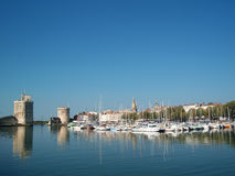 Port de La Rochelle, France Photographie stock libre de droits
