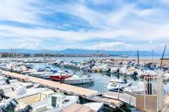 Port de la Salis Marina in Antibes, France Royalty Free Stock Images