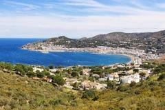 Port DE La Selva dorp in Costa Brava, Catalonië, Spanje Royalty-vrije Stock Foto's