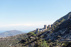 PORT DE LA SELVA (ESPAÃ ` A) -修道院SANT PERE DE RODES 免版税库存图片