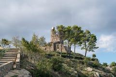 PORT DE LA SELVA (ESPAÃ ` A) -修道院SANT PERE DE RODES 免版税库存照片