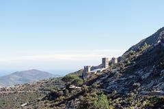 PORT DE LA SELVA (ESPAÃ-` A) - KLOSTER SANT PERE DE RODES Royaltyfria Bilder