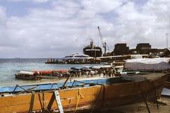 Port de la ville en pierre photo stock
