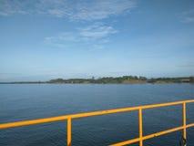 Port de lac Photos stock