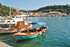 Port de Lakka, Paxos Photographie stock