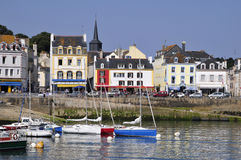 Port de Le Palais à la belle Ile en France Images stock