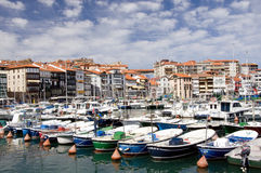 Port de Lekeitio, pays Basque Photographie stock libre de droits