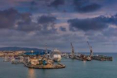 Port de Livourne, Italie Images stock