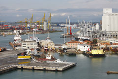 Port de Livourne, Italie photographie stock libre de droits