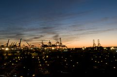 Port de Long Beach Images libres de droits